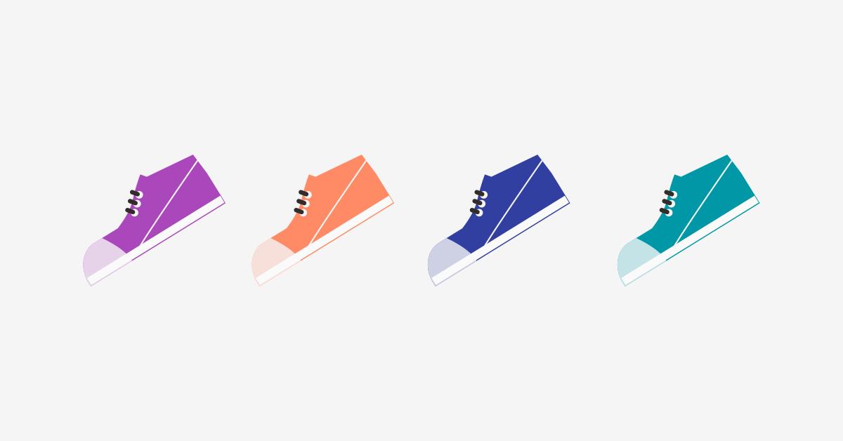 Sepatu warna-warni